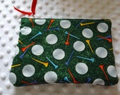 Golf bags ,Cosmetic or makeup bags,lady golfer gifts..tee bags.