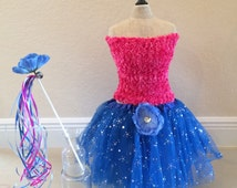 Anna Costume, Blue Fairy Costume, Fairy Tutu, Anna Frozen Costume, Fairy Party, Fairy Dress, Blue Fairy Tutu, Princess Costume