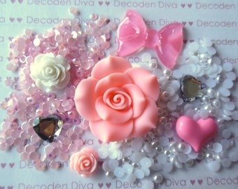 Beautiful Pink Flower Decoden Kit