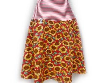 "the ""panaché-skirt"" 40/42/44 sunflowers striped"