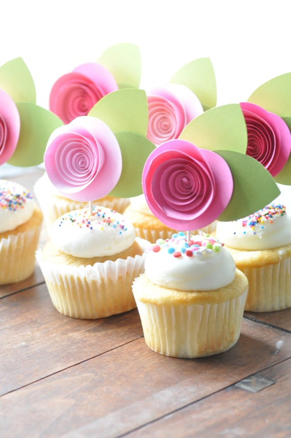 Pink Flower Cake Decorations