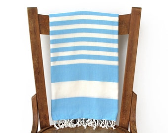 PESHTEMAL Bamboo Towel Handwoven Turkish Beach Towel Turkey Bath Towel Wrap Fouta Yoga Spa Towel Sarong Pareo Shawl Turquoise ARCTIC