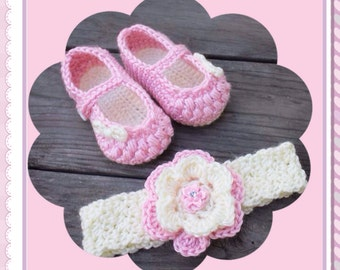 Lil Bows Mary Janes Shoes and Headband Set