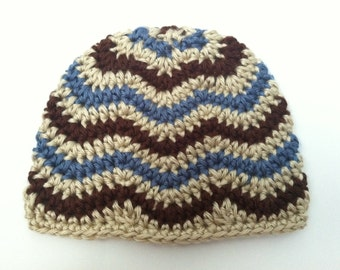 Crochet Pattern: Chevron Hat - Zig Zag Hat - newborn through adult sizes - INCLUDES PHOTO TUTORIAL! finished products may be sold