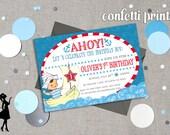 SAIL AWAY Vintage Birthday Invitation Printable