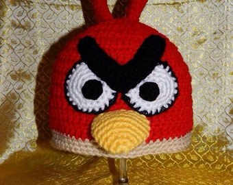 Crochet Hat Pattern Angry Bird : Popular items for angry birds crochet on Etsy