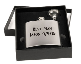 Custom Personalized Engraved Flask Gift Set with Funnel- BRAND NEW