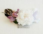 Wedding Flower Hair Comb Boho Chic Silk Hair Flower with Pink Berries Garden Wedding Bridal Fascinator Floral Hair Accessories