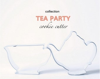 Tea Party Cookie Cutter Collection Set - 2 piece - Cookies - Custom - Parties