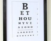 Be Thou My Vision Eye Chart Print - Ready to Frame