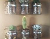 Mason Jar Wall Hanger Planter