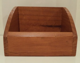 Handcrafted Wooden Square Napkin Holder