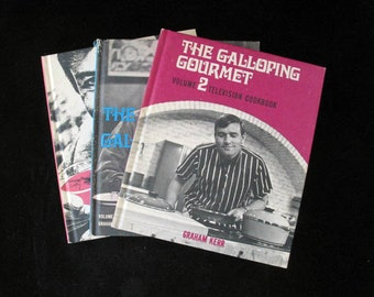 3 Galloping Gourmet Television Cookbooks by Graham Kerr Vintage 1969 and 1970 Instant Collection