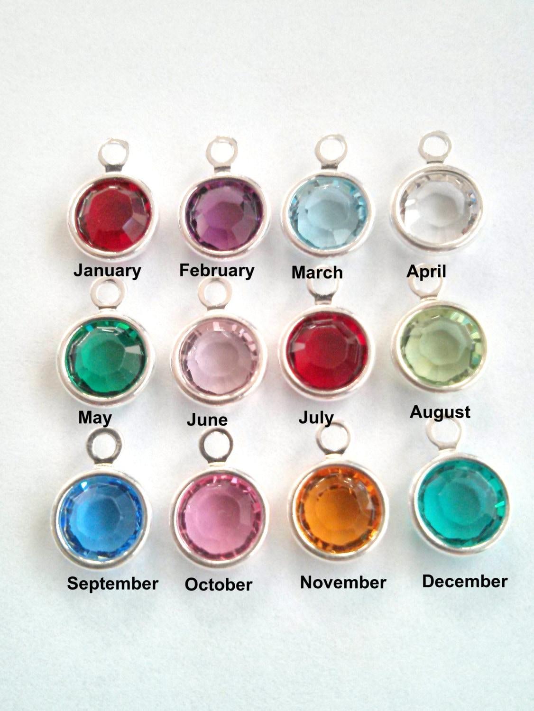 Birthstone charms swarovski crystal channels birthstone for Birthstone beads for jewelry making