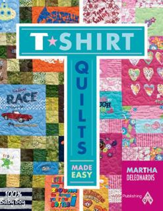 T-Shirt Quilts Made Easy Book by Martha by StudioVquilting on Etsy