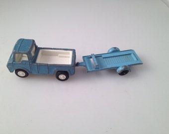 Vintage tootsie toy blue van and trailer
