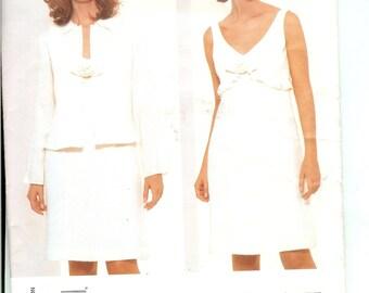 Vogue American Designer Anna Sui Jacket and Dress Pattern 2388 Size 18 20 22 Uncut