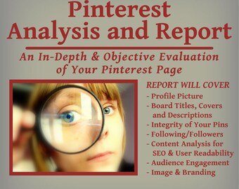 Pinterest Profile Analysis and Report  - Branding & Exposure with Pinterest
