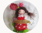 RESERVED UNTIL DECEMBER 17- Doll paper mache - Fairy of the garden