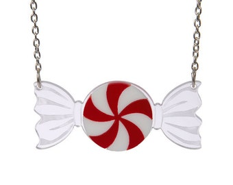 Peppermint necklace - laser cut acrylic