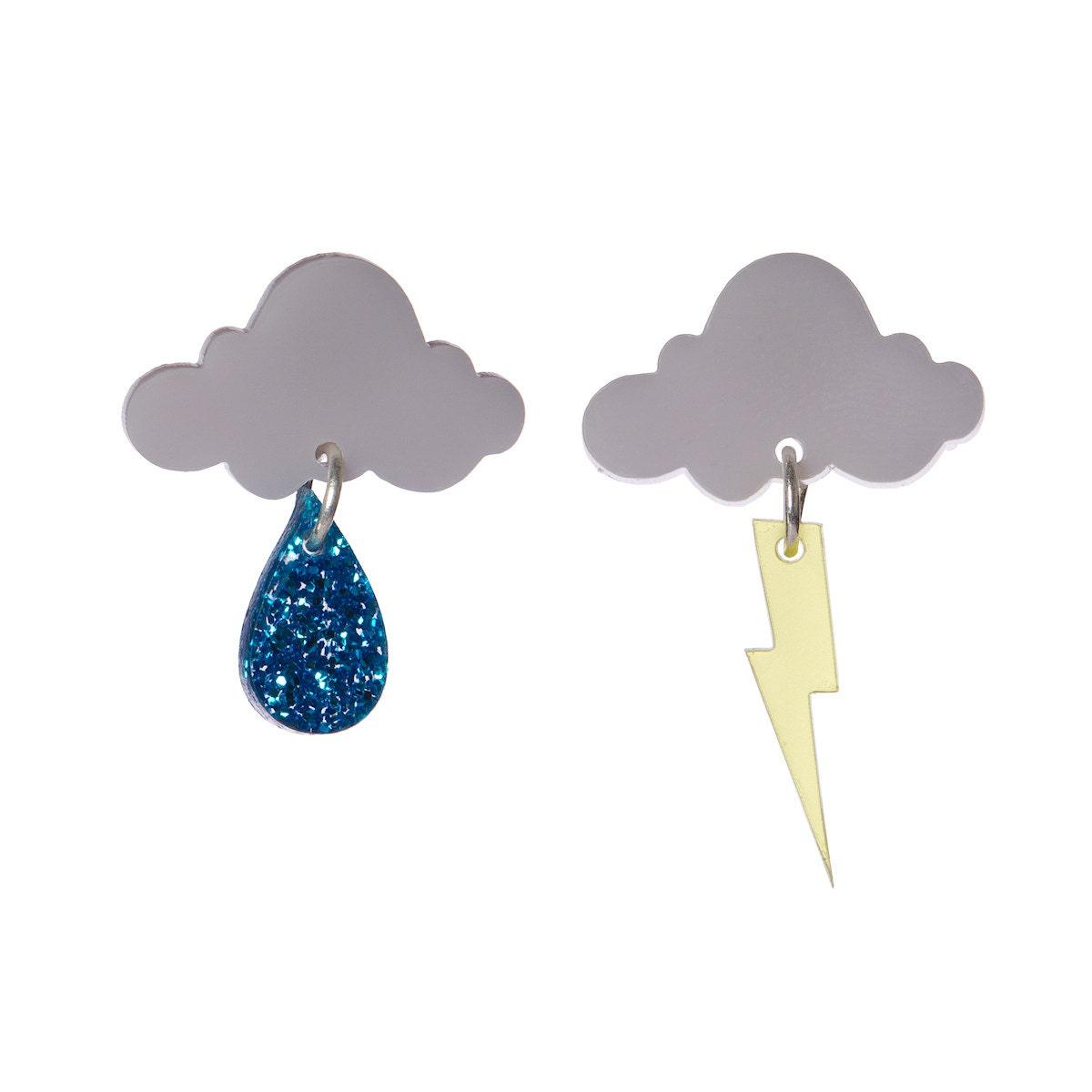 Cloud Earrings Laser Cut Acrylic