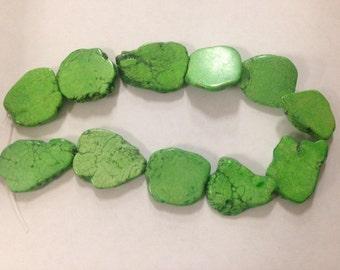 Magnesite Turquoise slab, green
