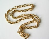Heavy gold tone chain 24""
