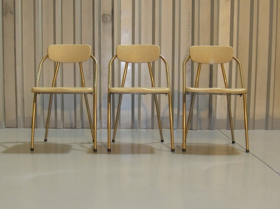 Retro Folding Chairs Vintage Cosco Stylaire by