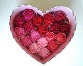 8 origami roses wedding, anniversary, party, birthday, holiday, gift, decoration, ornament,