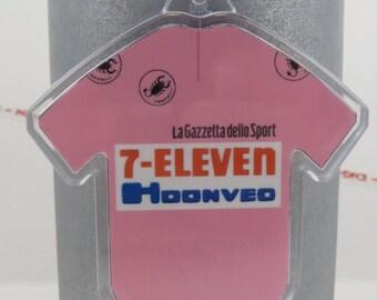 Andy Hampsten 7-Eleven Giro d'Italia 1988  - Printed Cotton Mini Cycling Jersey Keychain