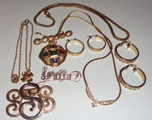 MIXED vintage jewelry lot wearable or destash*