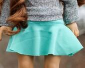 Aqua Skater Skirt for American Girl Dolls
