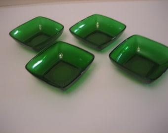 Forest Green Dessert Bowls