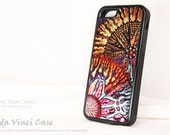 Metallic Abstract iPhone 5c Bumper Case - Cosmic Star Coral - Artistic iPhone 5c Case With Colorful Ocean Coral Art