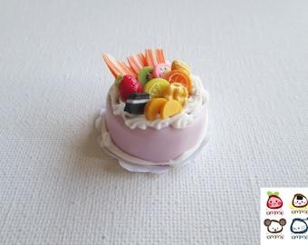 Miniature Cake, miniature clay cake, food figurine, miniature clay sweet, polymer clay food, mini, dessert, dollhouse, tiny, scale, polymer