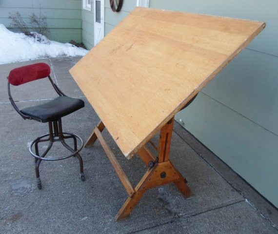 Industrial Drafting Table Dining Table Pub Table Kitchen