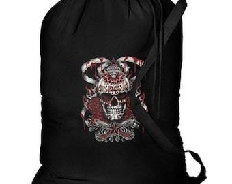 Demonized Sugar Skull New Cotton Laundry Bag, Camping, Duffle, Travel, Tote