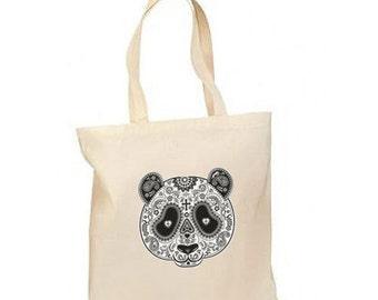 Sugar Skull Panda Mask New Lightweight Tote Trick Or Treat Bag Gifts