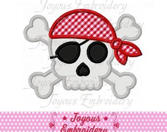 Instant Download Pirate Skull Applique Embroidery Design NO:1576