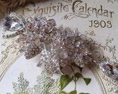 Love Vivian Swarovski rhinestone crystal and glass stone wedding bridal brooch pin