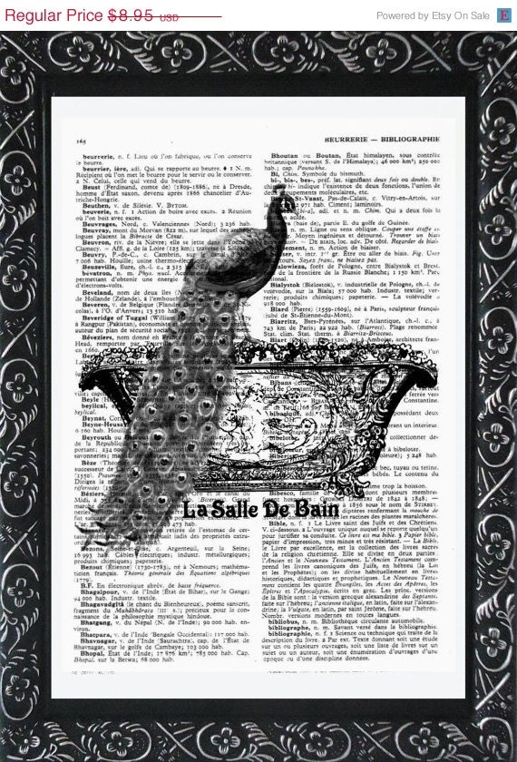 BATHROOM ART Print PARIS la salle de bain On An by