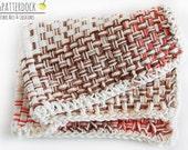 "Durable handwoven 100 percent Cotton Towel in brown plaid pattern - 10""x14"" dishcloth, tea towel, dish rag, hand towel"