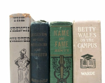 Vintage Books / Book Decor / Decorative Books / Home Decorating / Instant Library / Library Filler