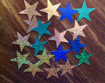 18 Metalic Star Die Cuts