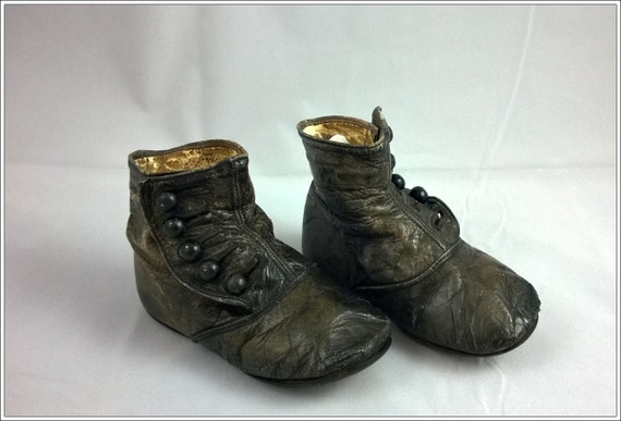 vintage leather baby toddler shoes early mid 1900 s
