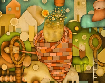 """Limited Edition Prints, Artist: Kelly Urquhart, """"Anomalans"""" Painting"""