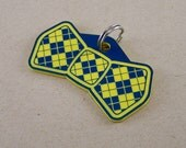 Pet Collar Tag Bow Tie - Colored Acrylic Dog ID Tag Laser Cut