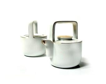 Vintage porcelain tea set ,tea pot with sugar bowl ,60s , Bavaria