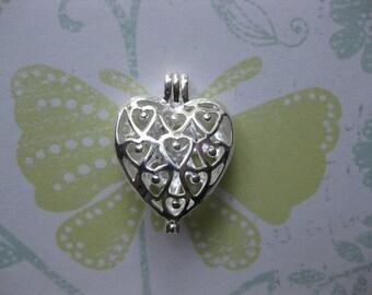 Heart Filigree Locket silverplated heart locket supplies