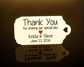 Wedding Favor Tags - Heart (50) - Personalized Thank You Tags, Perfect for Weddings or Party Favors